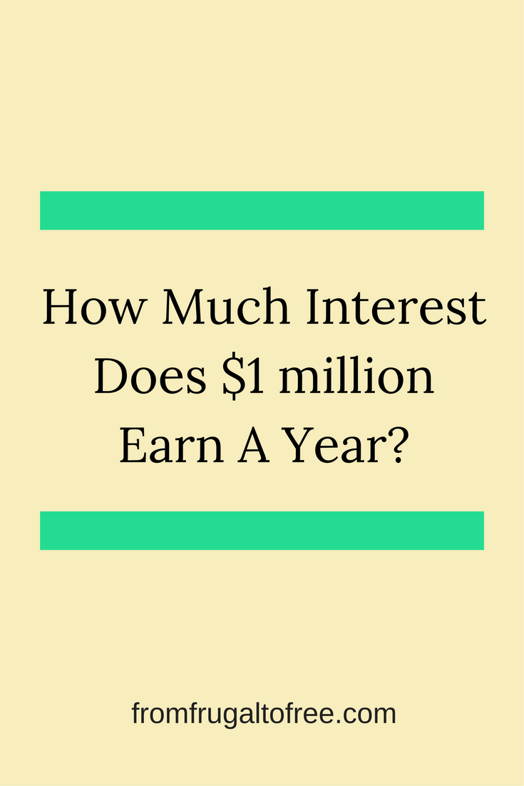 How Much Interest Does $1 Million Earn a Year?