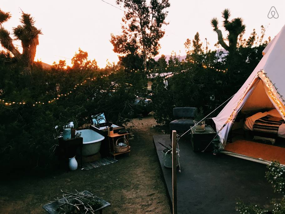 frugal airbnb glamping